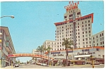 Click here to enlarge image and see more about item p14022: San Diego, CA, El Cortez Hotel Postcard 1964 Cars 50s