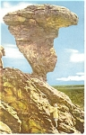 Click here to enlarge image and see more about item p14114: Buhl,ID, Balanced Rock Union Oil Postcard 1941