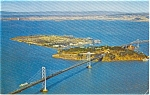 Treasure Island CA Bay Bridge Postcard