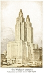 New York, NY, Waldorf Astoria Hotel, Postcard