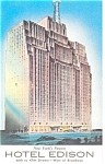 New York, NY, Hotel Edison, Postcard