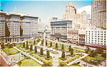 Union Square San Francisco CA  Postcard p1415