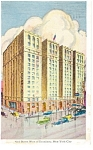 New York Hotel Times Square Postcard p14163