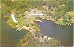 Lake Winnipesaukee NH Christmas Motel Postcard p14217