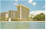 Waikiki Beach Hotels Postcard p14219 1970