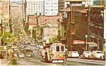 Click here to enlarge image and see more about item p1421: San Francisco CA Cable Car CA St Postcard p1421