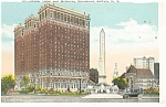 Buffalo NY  Statler Hotel McKinley Monument Postcard p14226