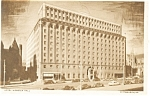 Pittsburgh PA Hotel Webster Hall Postcard p14228