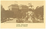 Richmond  VA Hotel Richmond Postcard p14244