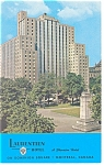 Montreal Quebec The Laurentien Hotel Postcard p14259