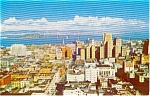 Click here to enlarge image and see more about item p1426: San Francisco CA Top of the Mark View Postcard p1426