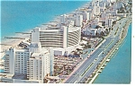Miami Beach, FL, Luxury Hotels Postcard