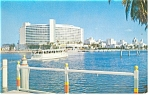 Miami Beach, FL, Foutainbleau Hotel and Cabana Postcard