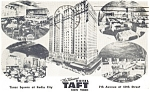 New York City NY Hotel Taft Multi View Postcard p14289