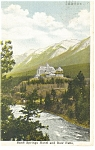 Click here to enlarge image and see more about item p14293: Banff, Alberta, Banff Springs Hotel and Bow Falls Postc