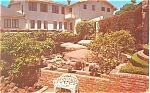 Click here to enlarge image and see more about item p14331: Carmel CA Pine Inn Patio Postcard p14331