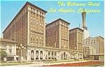 Los Angeles, CA, Biltmore Hotel Postcard 1970