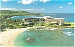 Click here to enlarge image and see more about item p14411: Kahuku Oahu HI  Turtle Bay Hilton Postcard p14411
