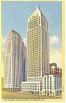 Pittsburgh PA Koppers and Gulf Buildings Postcard p14462