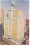 New York City  NY  Hotel Manhattan Postcard p14492