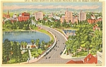 Click here to enlarge image and see more about item p1449: Los Angeles CA Wilshire Blvd Postcard