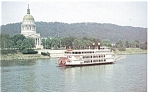 MV West Virginia Belle at WV Capitol Postcard p14523