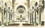 Tours  France Interior Basilique Saint Martin Postcard p14543