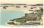 Brest France Point of the Fer a Cheval Harbor Postcard p14546