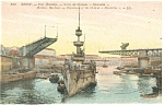 Click here to enlarge image and see more about item p14548: Brest France Military Harbor Cruiser Montcalm Postcard p14548