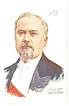 French President Raymond Poincare WWI Era Postcard