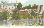 Montresor, France-Ensemble du Chateau Postcard