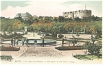 Click here to enlarge image and see more about item p14576: Brest, France-The Square of the Castle Postcard