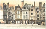 Tours, France-Old Houses-Plumerreau Place Postcard