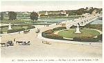 Tours, France-The Place des Arts-and Gardens Postcard