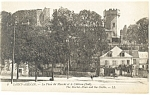 Saint Aignan France Market Place and Castle Postcard p14615
