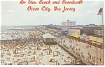 Air View Boardwalk,Ocean City, NJ Postcard 1965