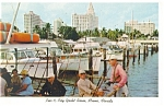 Pier 5 City Yacht Basin Miami FL Postcard p14623 1960