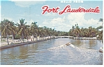 Waterway, Ft Lauderdale, FL Postcard 1965