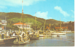 St Thomas V.I. Waterfront Postcard