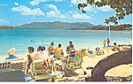 Click here to enlarge image and see more about item p14794: Sapphire Beach,St Thomas V.I. Postcard