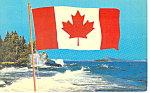 Click here to enlarge image and see more about item p14816: Canada's New Flag Postcard