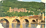Click here to enlarge image and see more about item p14823: Heidelberg Germany Bridge and Castle Postcard p14823