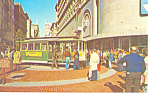 Click here to enlarge image and see more about item p14854: Powell and Market Cable Car Postcard