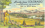 Click here to enlarge image and see more about item p14878: Howdy From Colorado Postcard