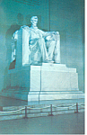 Lincoln Statue Lincoln Memorial Washington DC Postcard p14885