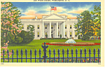 White House North Front Washington, DC Postcard