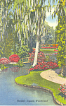 Click here to enlarge image and see more about item p14900: Cypress Gardens  FL  Rustic Bridges Postcard p14900