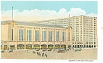 Boston  MA New North Station Postcard B M Railroad p15008