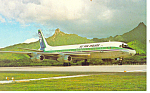 Click here to enlarge image and see more about item p15022: Air New Zealand DC-8,Airline Issue Postcard p15022