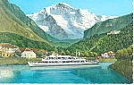 Excursion Boat in Switzerland Postcard p15026